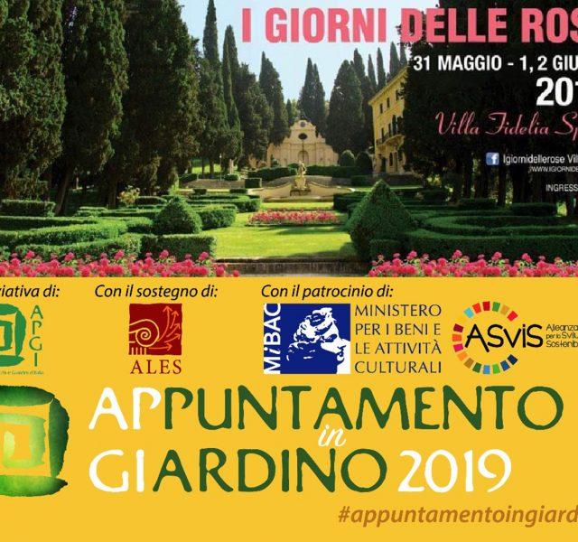 """Villa Fidelia e """"I Giorni delle Rose"""" inseriti dall'APGI nell'iniziativa nazionale """"Appuntamento in Giardino"""""""